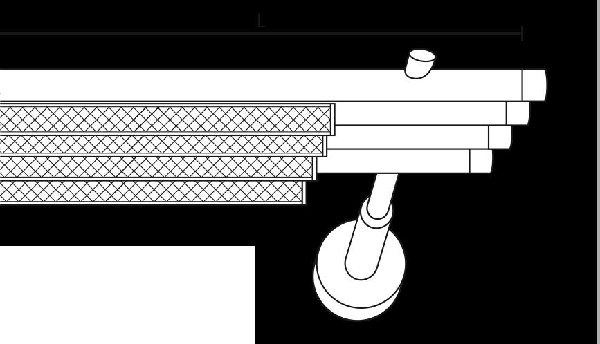 Karnisz panelowy Daria 4 biegi