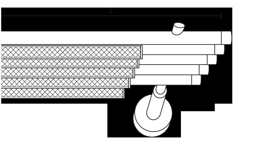 Karnisz panelowy Daria 5 biegów