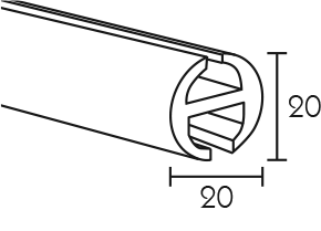 Karnisz panelowy Daria profil główny
