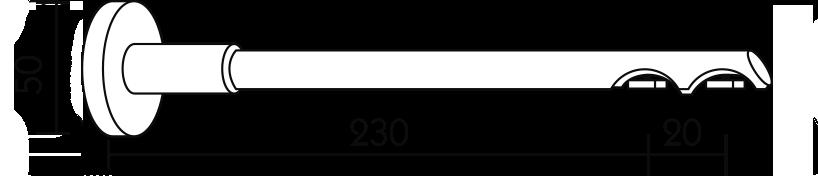 Karnisz panelowy Daria wspornik ścienny 2-biegowy