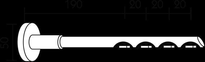 Karnisz panelowy Daria wspornik ścienny 4-biegowy