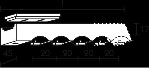 Karnisz panelowy Daria wspornik sufitowy 3-5-biegowy
