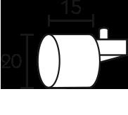 Karnisz panelowy Daria zaślepka profilu